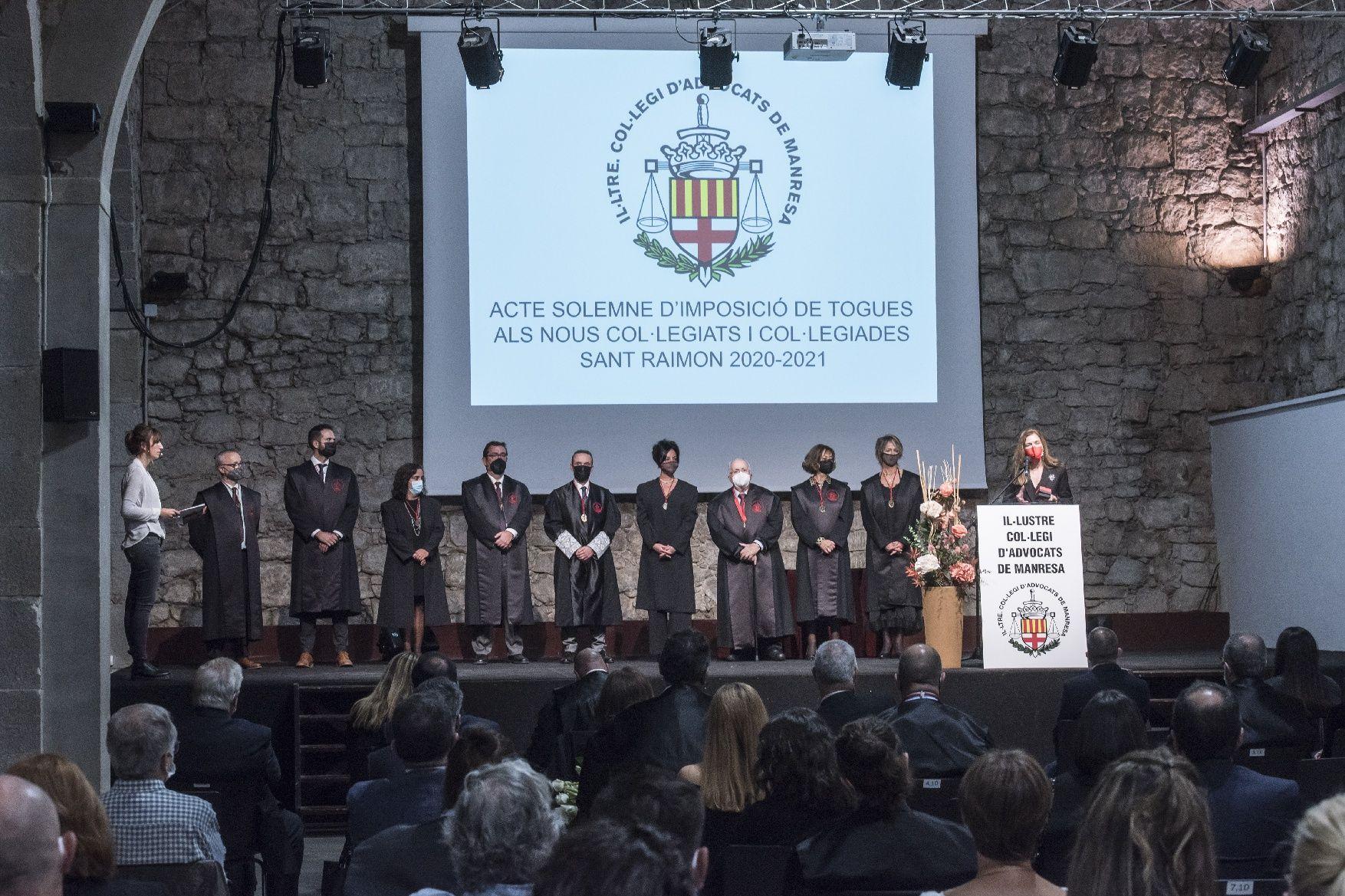 Acte solemne d'imposició de togues del Col·legi d'Advocats de Manresa