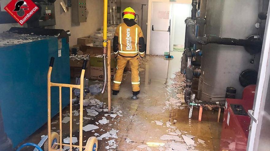 Una fuga de gas provoca daños materiales en la residencia Emilio Sala de Alcoy