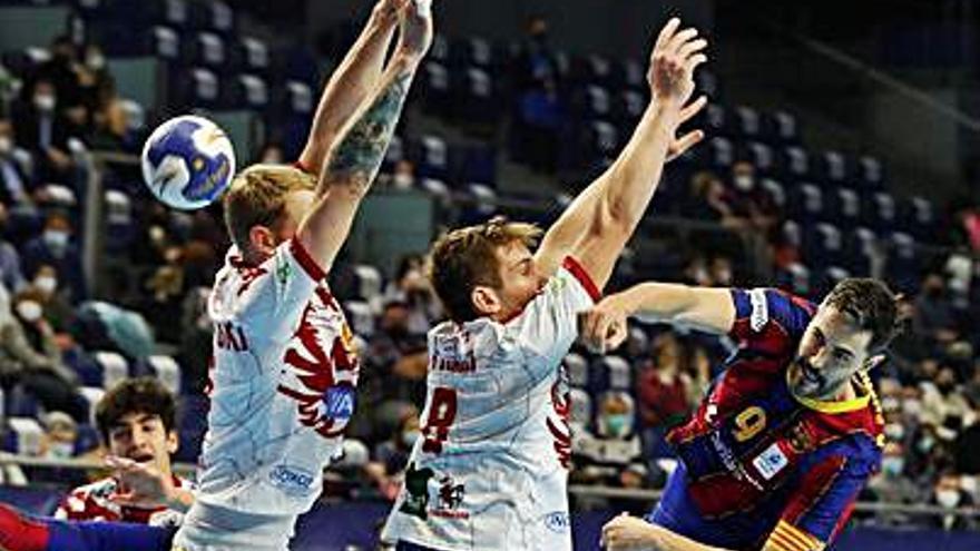 Balonmano: el asturiano Entrerríos, mejor jugador en su última final copera, con otro título del Barça