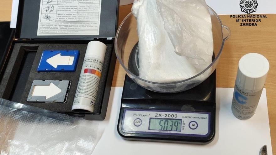 Detenido con medio kilo de cocaína en un control policial en Zamora