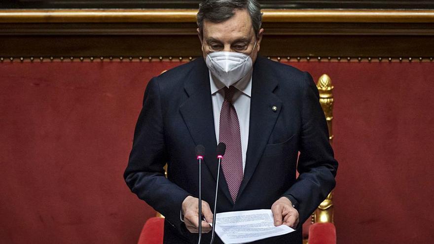El Senat italià atorga la seva confiança al Govern d'unitat de Mario Draghi