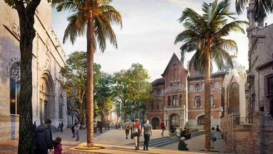 Amics del Corpus avisa que las Rocas no podrán pasar por la nueva Plaza del Mercado