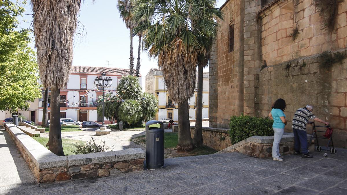 Imagen de la plaza de Santiago