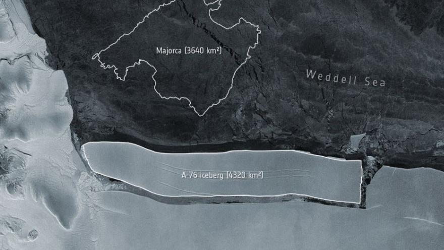 El iceberg más grande del mundo se parte en tres