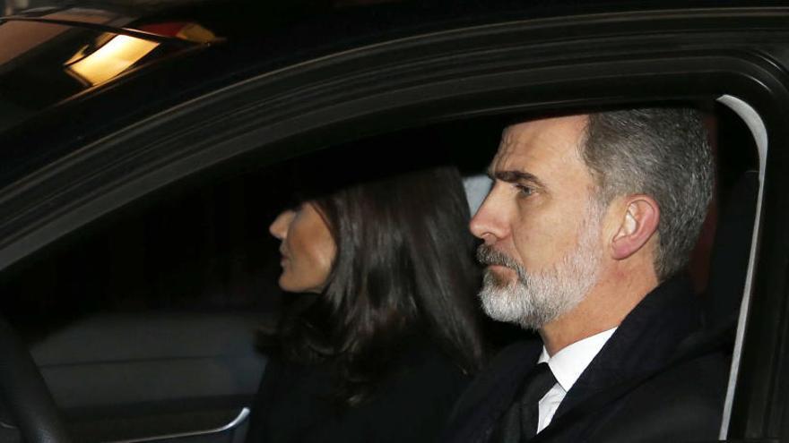 Felipe VI y doña Letizia, junto a la Familia Real al completo despiden a la infanta Pilar