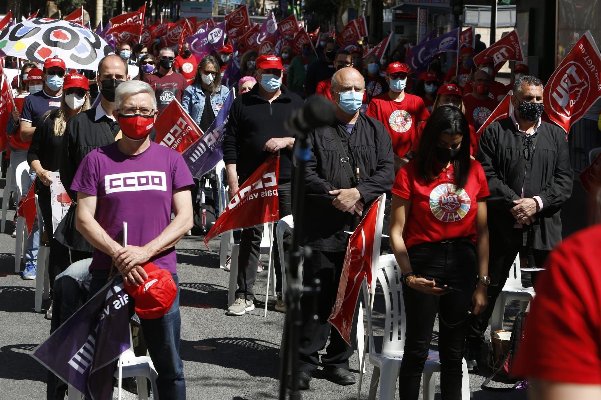 Celebración del 1 de mayo, Día de los Trabajadores, en Alicante