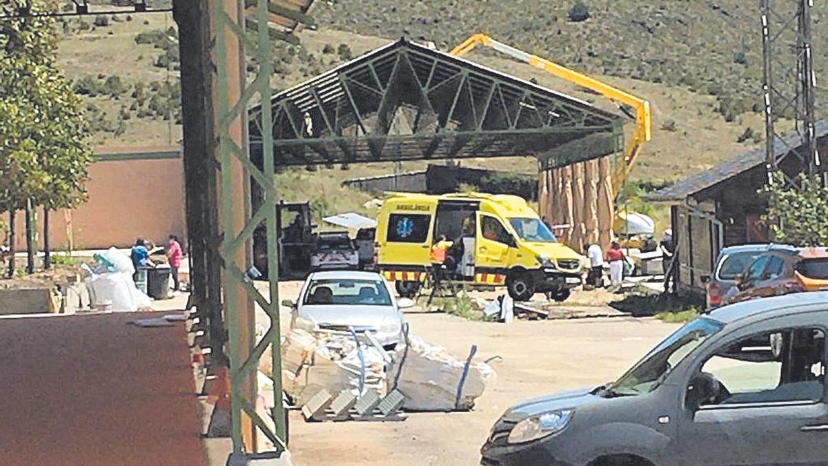 Operatius d'Emergències aquest dilluns al migdia a les instal·lacions de Bellver