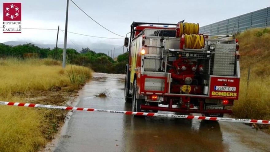 Las lluvias dejan desprendimientos y más de 47 l/m2 en puntos de Castelló