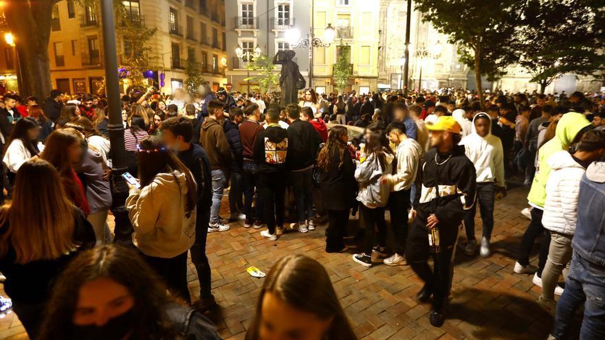La plaza del Justicia, antes de los incidentes
