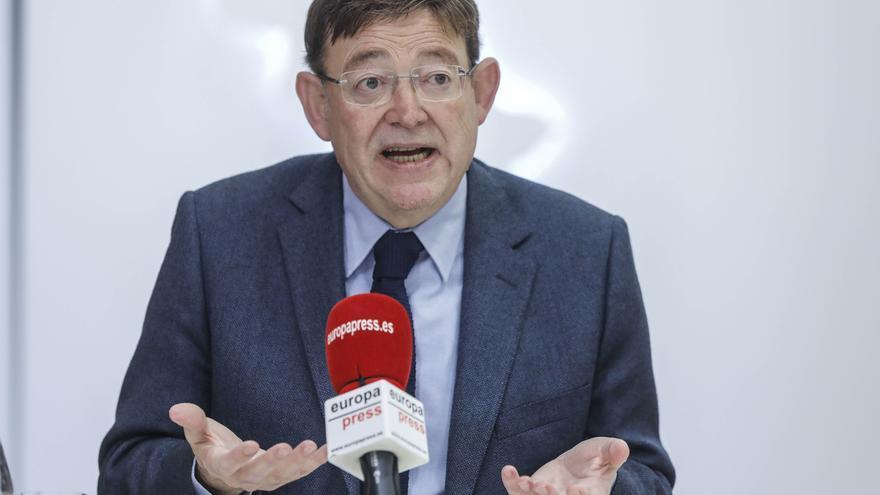 Ximo Puig elude posicionarse sobre la posible moción de censura en Alicante