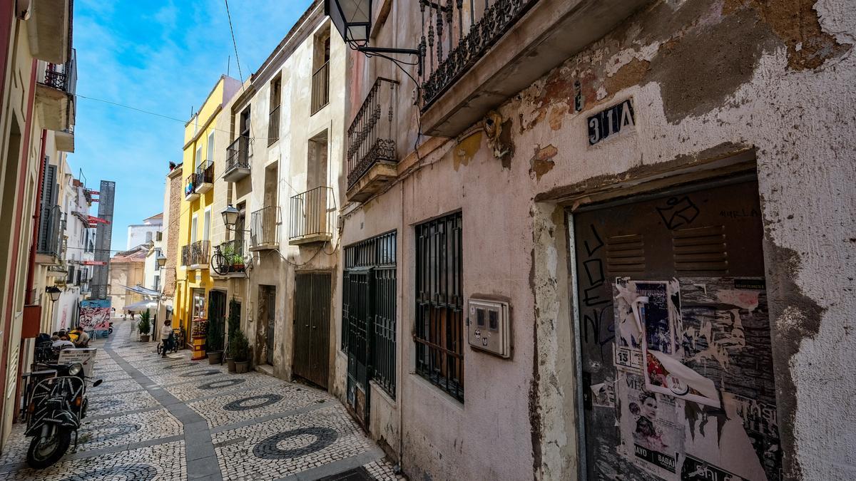 Viviendas en la calle Moreno Zancudo.