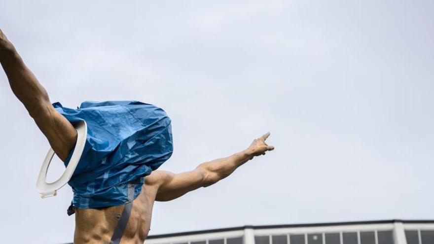 La estatua de Ibrahimovic en Malmö, de nuevo vandalizada por su vínculo a un club rival