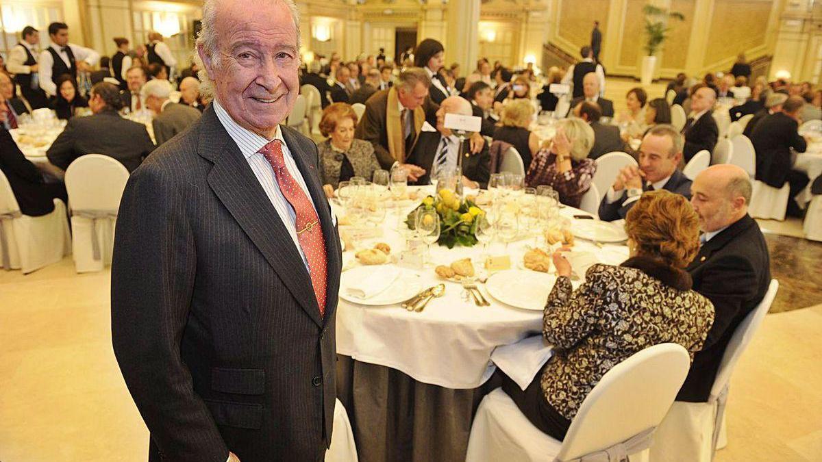 José Antonio Quiroga Piñeyro, en el homenaje que se le tributó en 2010 al dejar la Cámara.
