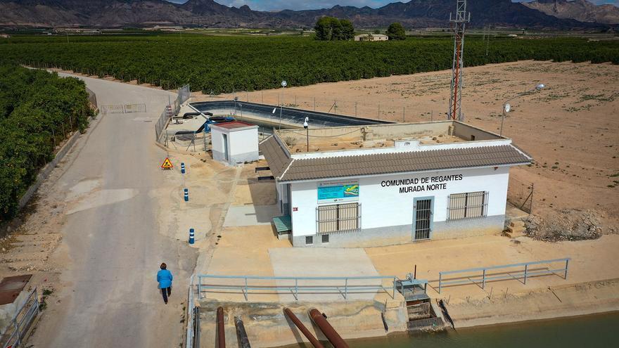 Imágenes de la ubicación de la futura planta fotovoltaica en la Comunidad de Riego de Murada Norte de Orihuela