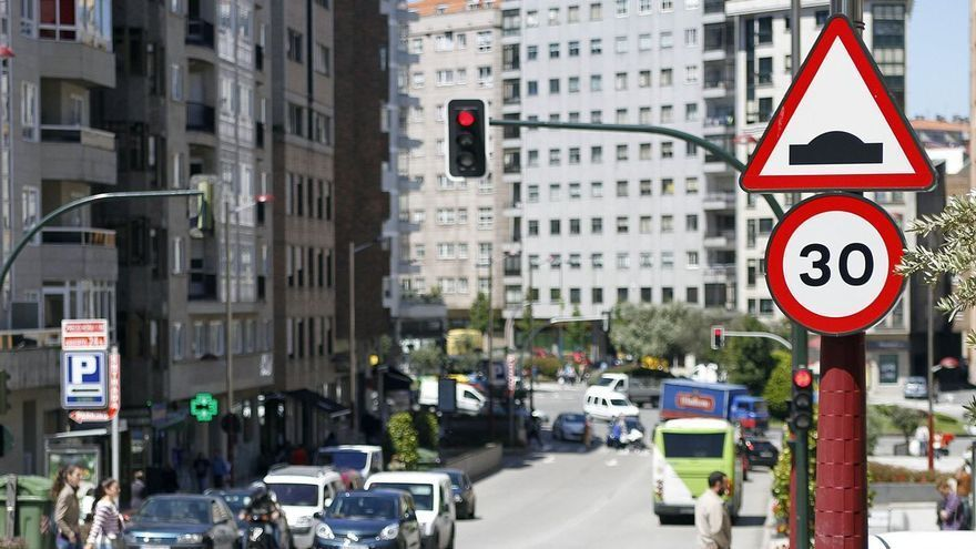 Mapa con todas las calles de Vigo que cambian el límite de velocidad