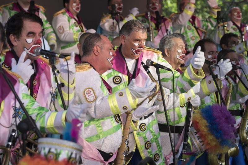 Carnaval: actuaciones de cierre de la fiesta de la Afilarmónica Ni Fu Ni Fa y la Zarzuela.Jesus Adan  | 01/03/2020 | Fotógrafo: Carsten W. Lauritsen