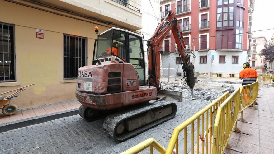 La nueva y reformada calle Predicadores de Zaragoza estará acabada en abril