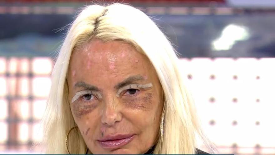 Leticia Sabater reaparece con el rostro retocado tras el fallecimiento de su hermana