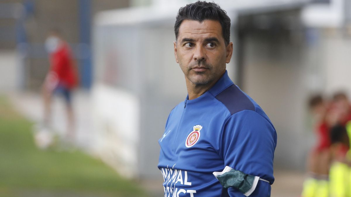 Míchel Sánchez, entrenador del Girona