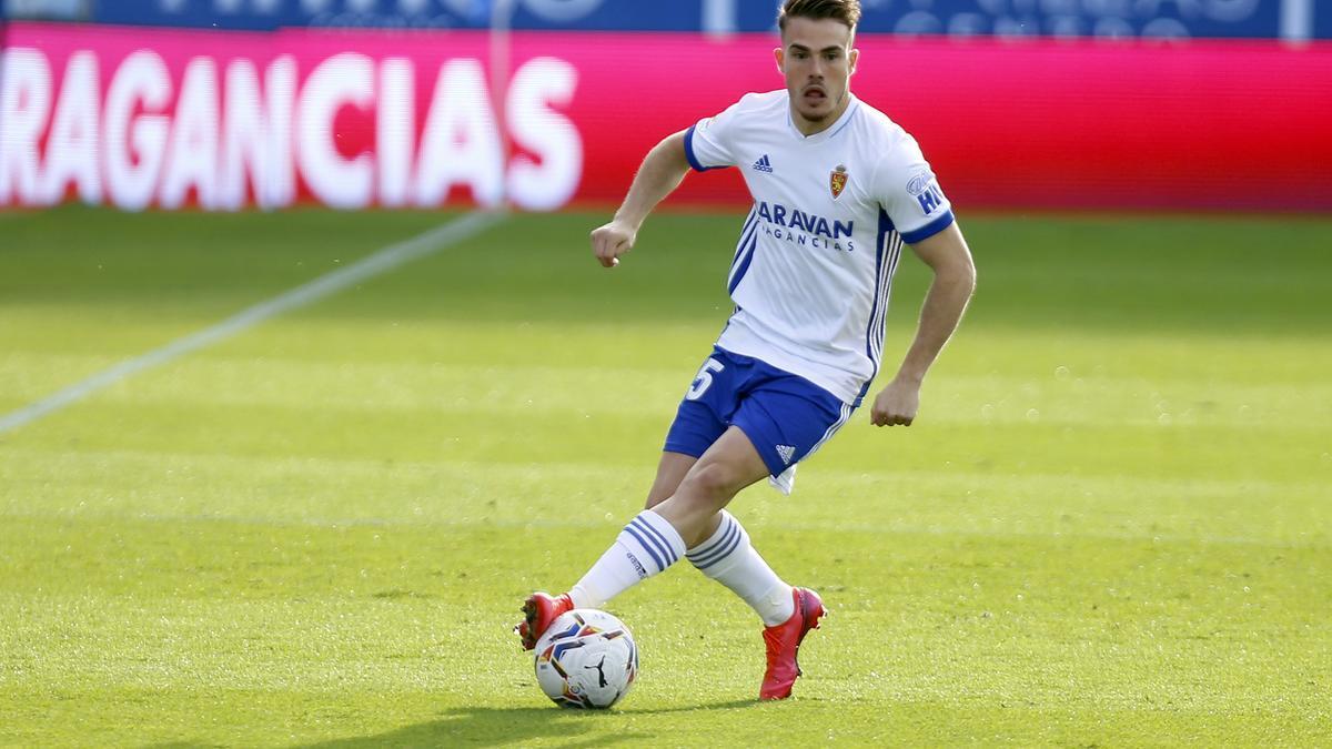 Pep Chavarría, en un partido de la pasada temporada con el Real Zaragoza.