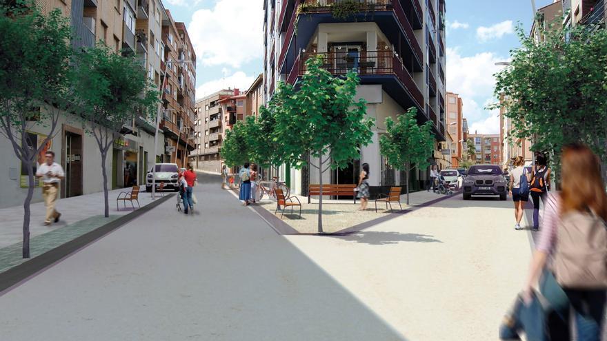 La calle Cuarte de Zaragoza se convertirá en una zona semipeatonal y arbolada