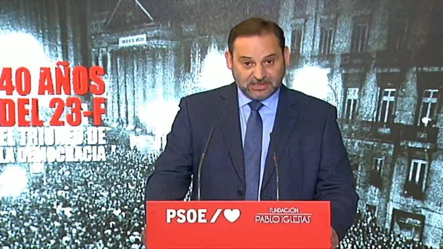 """Ábalos destaca la actual """"democracia plena"""" en vísperas del 23F"""