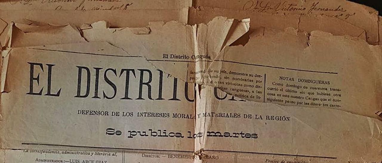 """Portada de una de las últimas adquisiciones de """"El Distrito Cangués""""."""