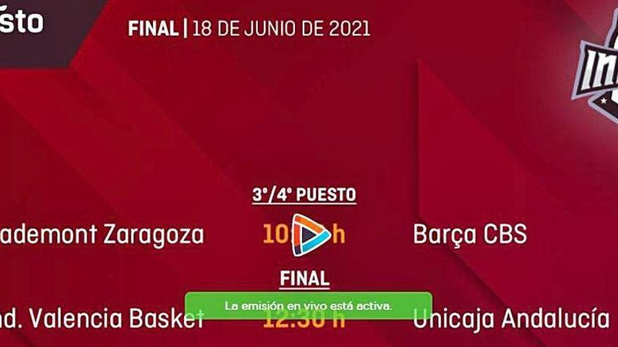 Sigue en directo la final del equipo Infantil del Valencia Basket