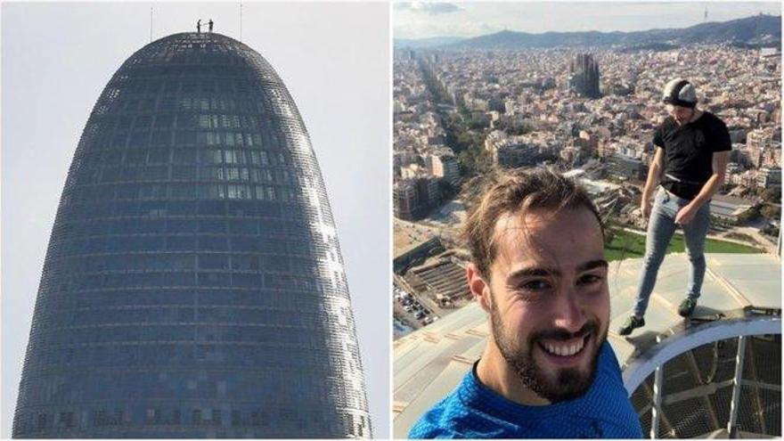 La historia detrás del selfi en la torre Glòries de Barcelona