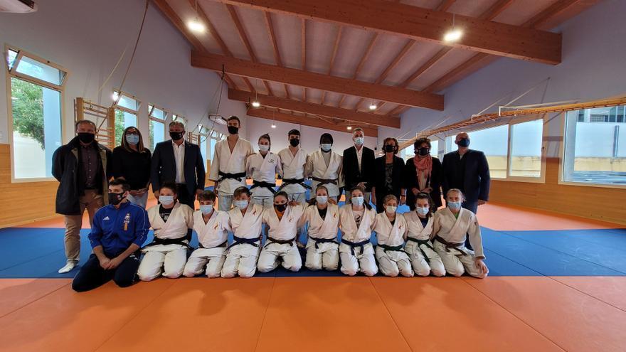 Binéfar inicia un proyecto piloto de tecnificación con promesas del judo