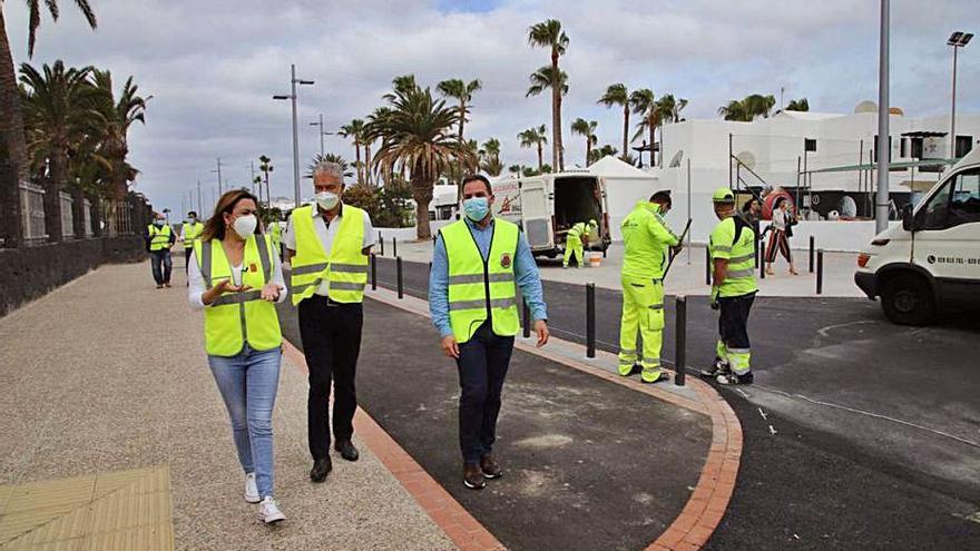 Turismo invierte 337.648 euros en la mejora del carril bici de Puerto del Carmen