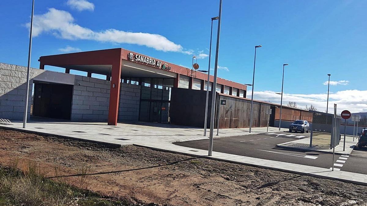 La estación de Otero de Sanabria, en el mes de mayo.