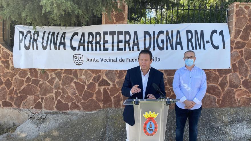 Mula reitera la necesidad de mejora de la carretera RM-C1 Fuente Librilla-Alcantarilla