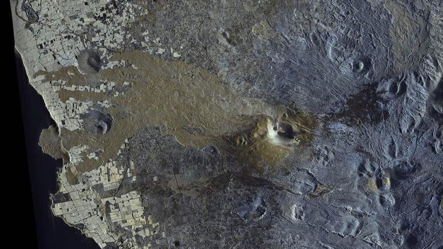 La nueva colada del volcán de La Palma avanza a unos 50 metros por hora