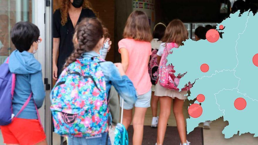El COVID busca refugio en los centros educativos gallegos