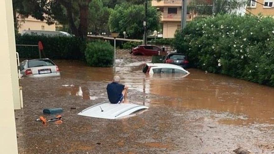 Benicàssim, inundada por la lluvia