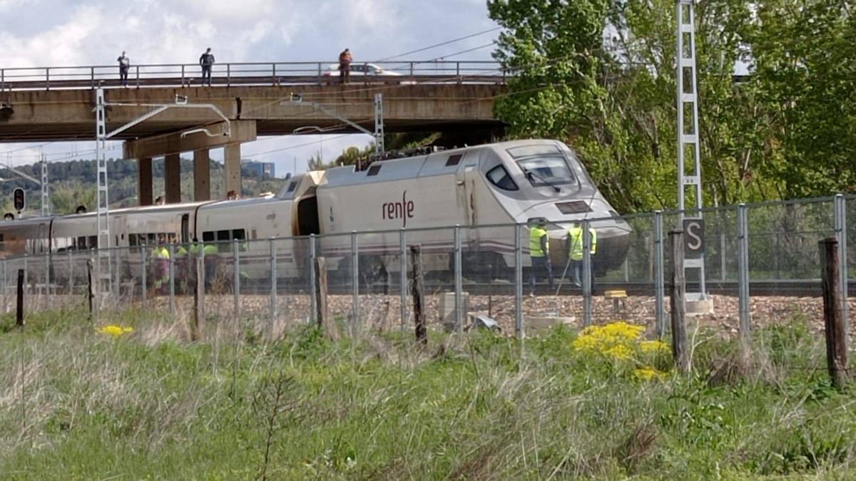 El tren accidentado.