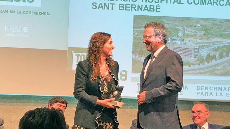 L'hospital Sant Bernabé rep un dels premis TOP 20 en la categoria de millor gestió hospitalària global