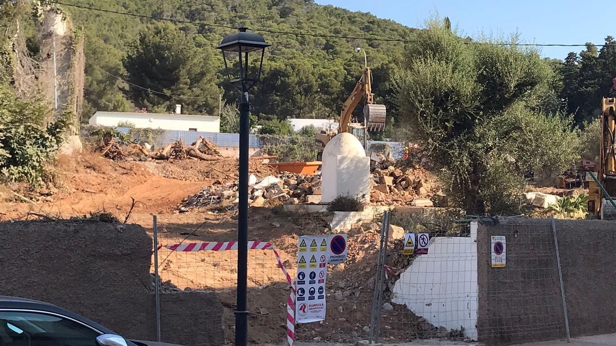 Foto de las obras que se están llevando a cabo en el municipio