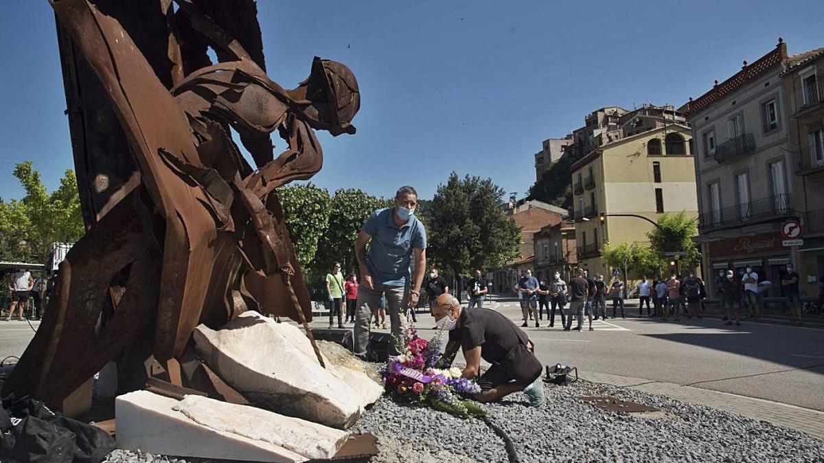 Homenatge a Pau Camp, mort l'any passat a la mina de Vilafruns