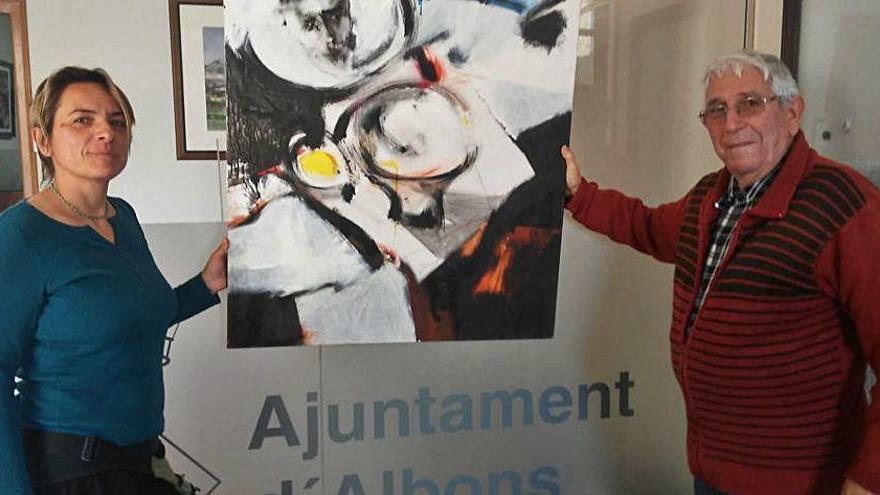 Les filles de Joan Paradís fan donació d'una obra del pintor al poble d'Albons