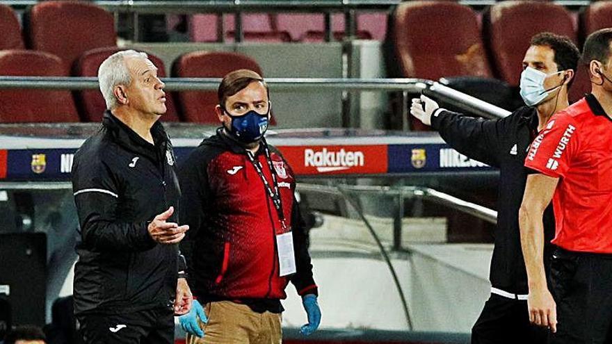 Aguirre, expulsado por imitar el pitido del árbitro con un silbido