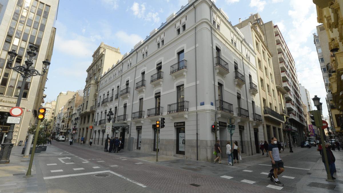 Exterior de la nueva sede provincial de Cajamar en la Puerta del Sol de Castelló