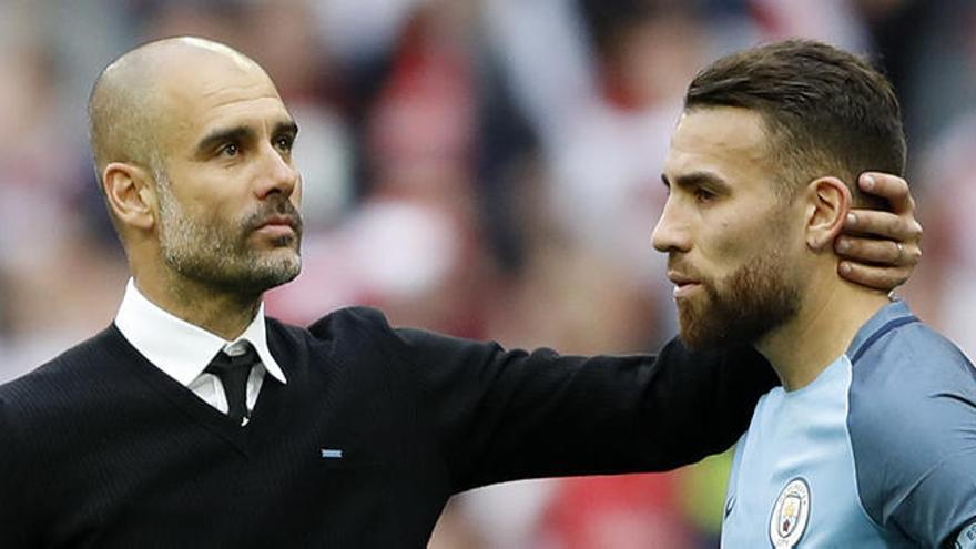 """Otamendi no es feliz en el Manchester City"""