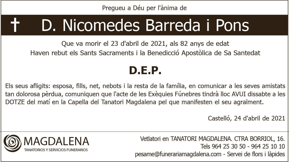 D. Nicomedes Barreda i Pons