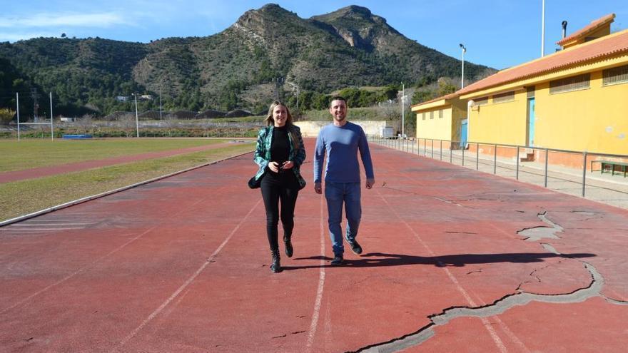 La Vall cambiará por completo el tartán de la pista de atletismo