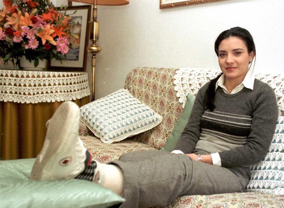 Natalia Candela, Bellea del Foc 1999, sufrió una esguince durante su reinado