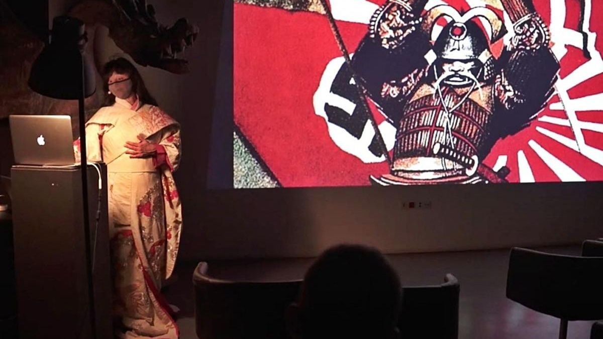 Anna Ventura Natsuki a la conferència «Kesseki» del Sismògraf
