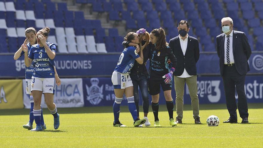 """""""Estamos contigo, Pepa"""": todos los detalles del emotivo homenaje del Oviedo Femenino a Arnau"""