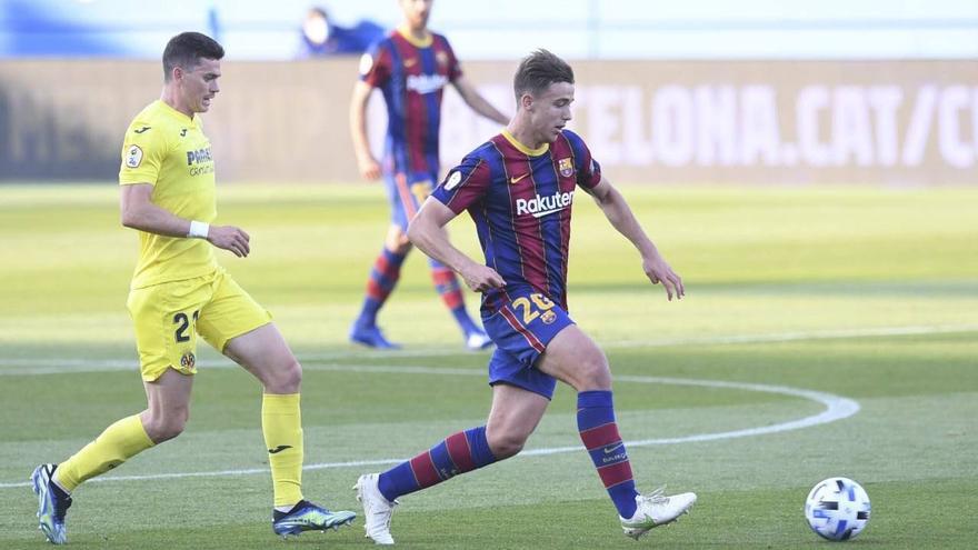 El Barcelona B deja sin opciones al Villarreal B (3-2)